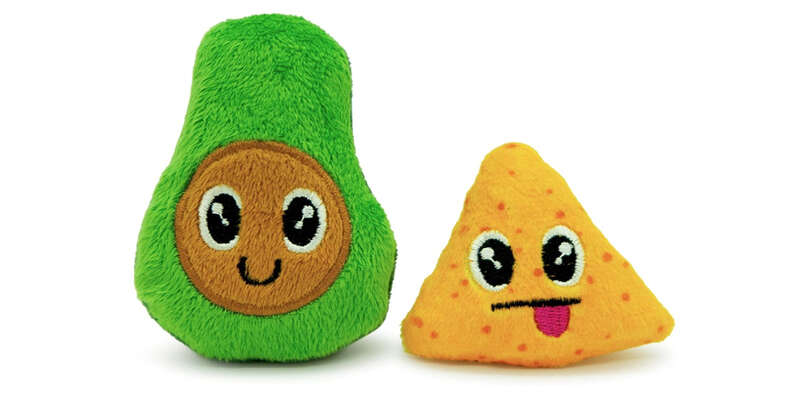 Avocado and chip catnip toy