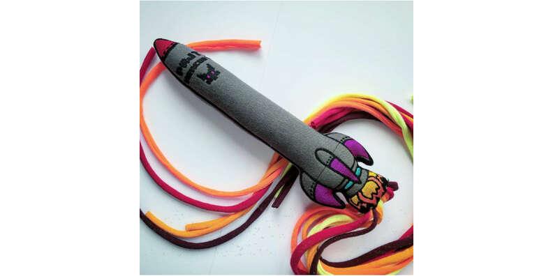 Catnip Rocket Ship toy