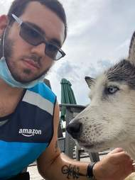 Amazon delivery driver saves dog from drowning