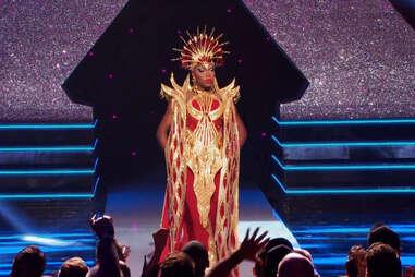 Asia O'Hara at the Drag Race Season 10 finale