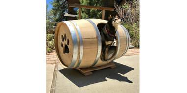 etsy wine barrel dog house