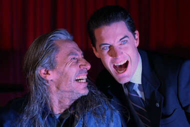 bob and agent dale cooper in twin peaks