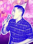 Tae Yoon singing karaoke