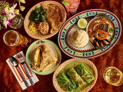 Thai Diner table spread
