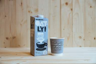Oatly oat milk for coffee and cereal