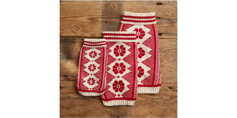 cozy cabin dog sweater