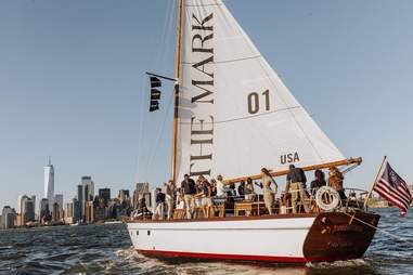The Mark sailboat on the Hudson River
