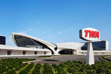 TWA Hotel exterior in NYC