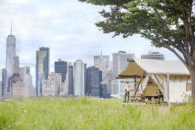 glamping on Governors Island