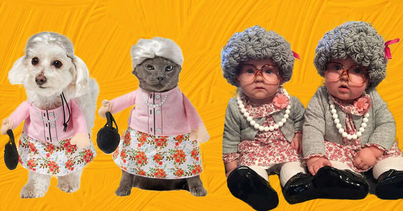 old lady dog and baby costumes