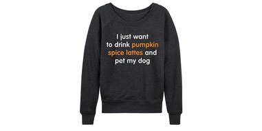 PSL And Pet My Dog Slouchy Pullover