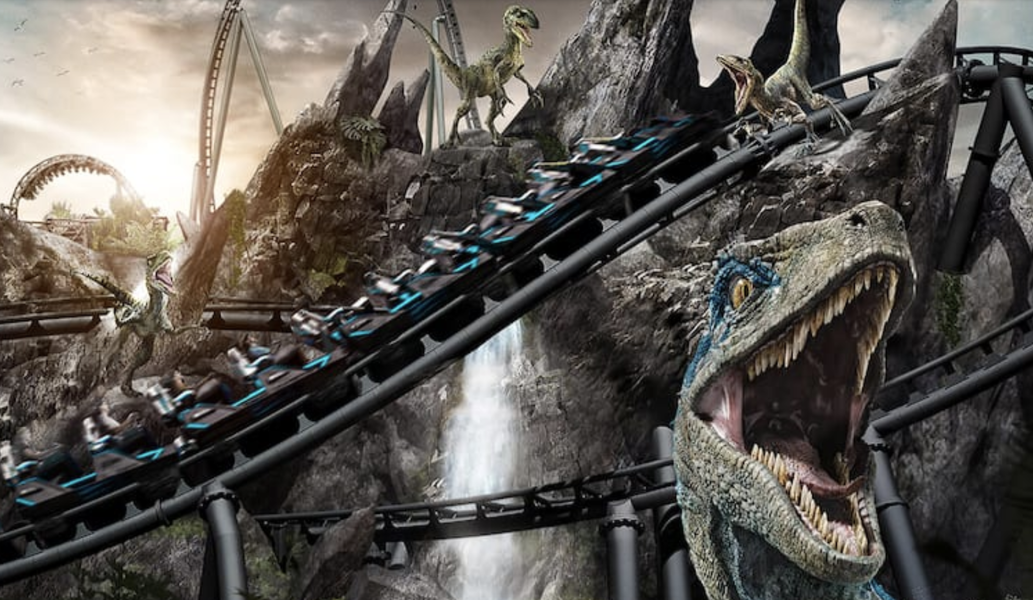 The First Jurassic World Roller Coaster Is Full of Raptors & Looks Intense