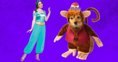 Matching owner and pet Aladdin costumes