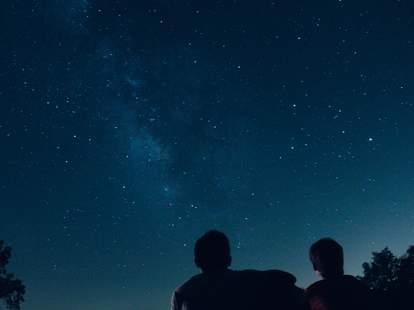 night sky right now