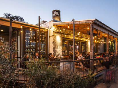 The Hay Merchant outdoor patio