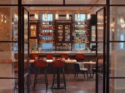 The bar inside Elm & Good