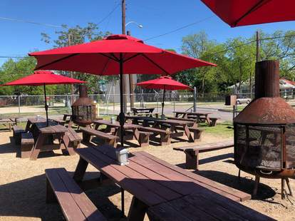 Lee Harvey's picnic tables