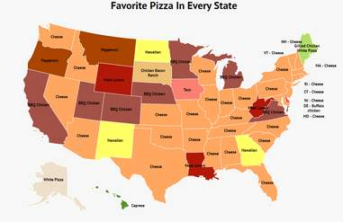 Zippia Pizza Map