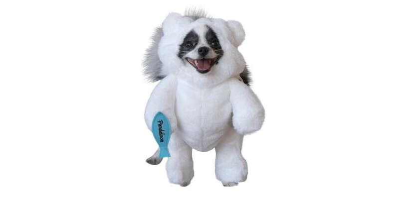 polar bear dog costume