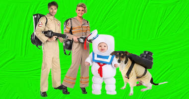 Ghostbusters Halloween family costumes