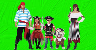 Pirate family halloween costumes