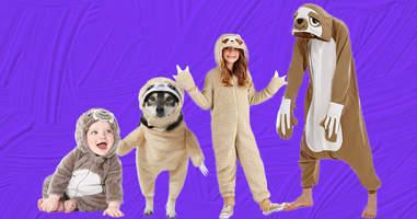 sloth family halloween costumes