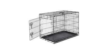 classic black dog crate