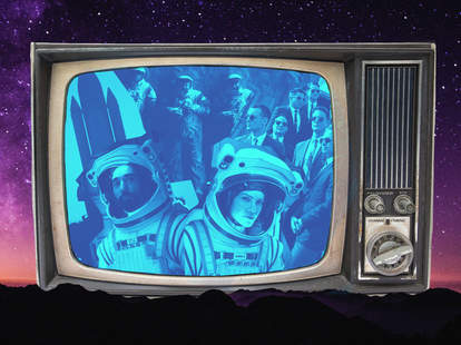 space tv shows, away, the right stuff, moonbase 8