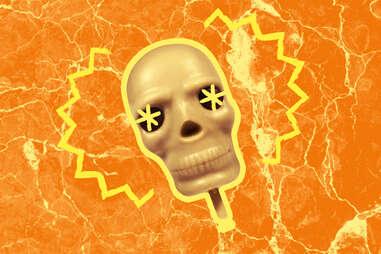 White Chocolate Skull Lollipop vegan