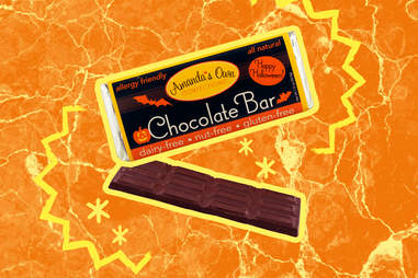 vegan chocolate bar halloween