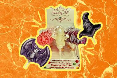vegan halloween lollipops