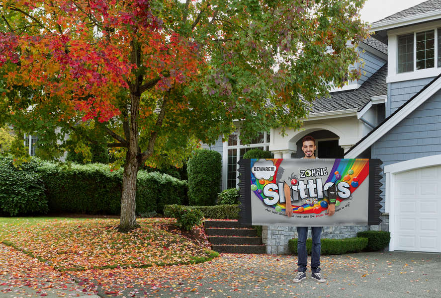 Skittles Created a 6-Foot Wide Halloween Costume for Easy Social Distancing