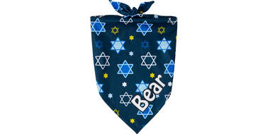 personalized hanukkah dog bandana