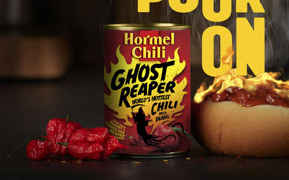 Hormel Mixed Carolina Reaper & Ghost Peppers for 'World's Hottest Canned Chili'