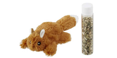 plush squirrel stuffed with catnip
