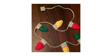christmas lights string cat toy