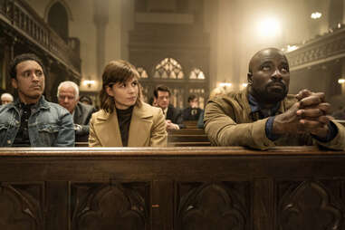katja herbers and mike colter in evil