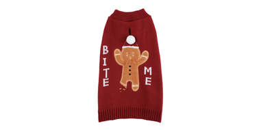 gingerbread sweater for dogs