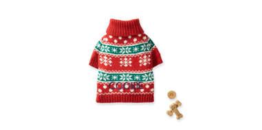 snowflake dog sweater