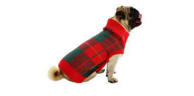 traditional plaid dog sweater