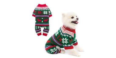 dog christmas fleece onesie
