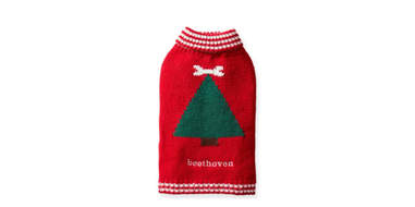 classic christmas tree sweater for dogs