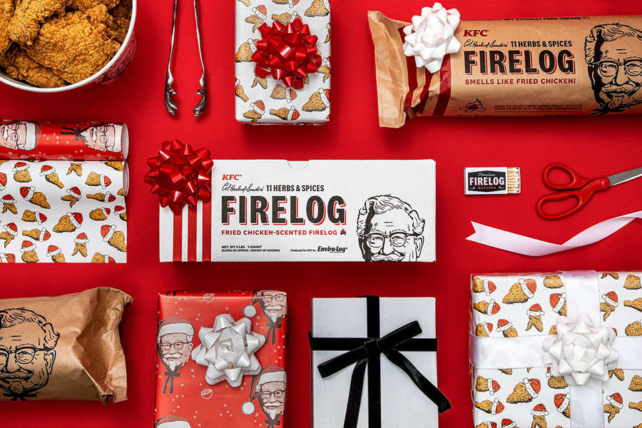 KFC's Fried Chicken-Scented Firelog Is Back for the Holidays