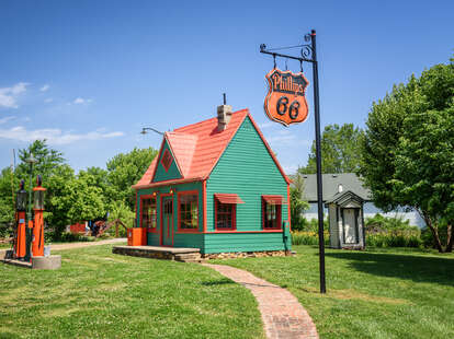 The Phillips 66 Gas Station in Red Oak II, Missouri