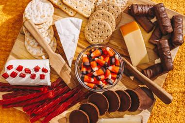 halloween candy cheese board