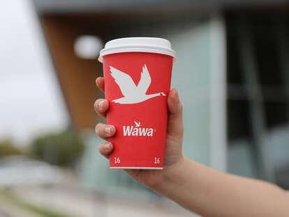 Wawa hot coffee cup