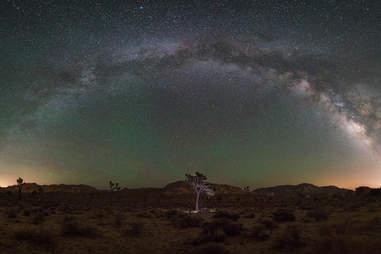 Milky Way panorama in Joshua Tree National Park
