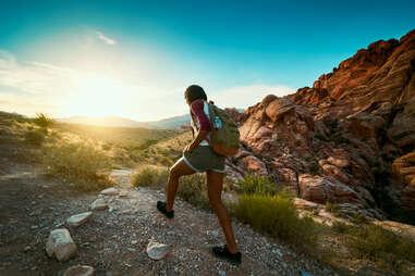 Woman hiking at Red Rock Canyon