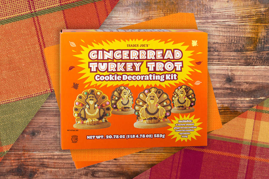 Trader Joe's Turkey Gingerbread Decorating Kits Are Perfect for Thanksgiving Superfans