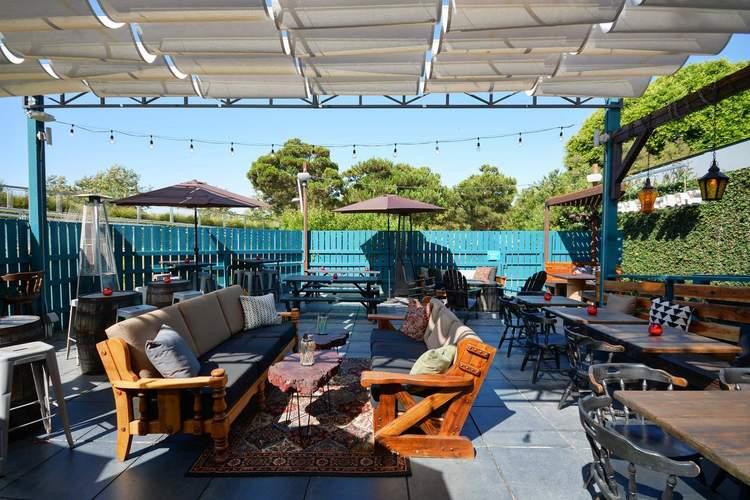 The Backyard At Chez Jay